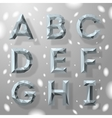 Trendy grey fractal geometric alphabet part 1 vector image
