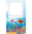 Frame design with ocean scene vector image