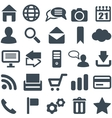 Universal set of icons for web and mobile vector image vector image