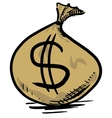 Money bag with dollar sign vector image vector image