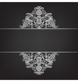 Dark background with silver ornament vector image vector image