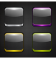 Colored app buttons set vector image