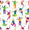 bright seamless background with jumping people vector image vector image
