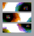 Happy Holi card template vector image vector image