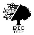Bio tech tree vector image