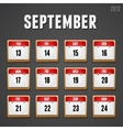September 2012 Calendar icons vector image