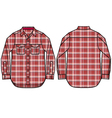 check pattern shirt design vector image vector image