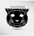 abstract logo with black cat modern style vector image