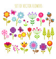 bright child garden flowers and butterfly vector image