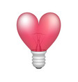 bulb in shape of heart vector image