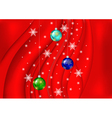 Christmas balls with background vector image