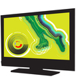 Football game on tv vector image