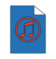 note music melody sound button web icon vector image