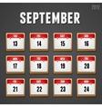 September 2012 Calendar icons vector image