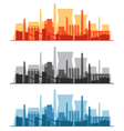 Set of industrial banners vector image