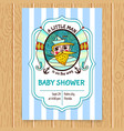 baby shower invitation with sea captain vector image