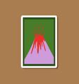 paper sticker on stylish background eruption vector image