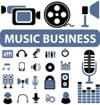 music business signs vector image vector image