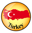button Turkey vector image vector image