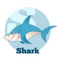 ABC Cartoon Shark vector image