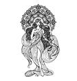 AsianOrientalIndian womanMandala decor vector image
