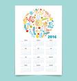 Calendar 12 months vector image