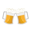 cheers beer cups graphic vector image