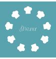 Chef hat round frame Menu card Flat design vector image