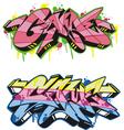 Graffito - game vector image