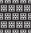 seamless pattern of geometric squares vector image