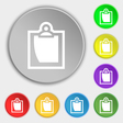 sheet of paper icon sign Symbol on eight flat vector image