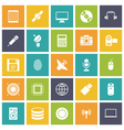 icons plain tablet technology vector image