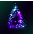Beautiful holiday card with techno style christmas vector image