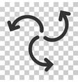 turbine rotation icon vector image