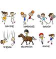 Indoor and outdoor activities vector image vector image