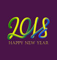 2018 happy new year golden and fluid colors vector image