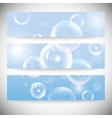 Set of horizontal banners Drops in the blue water vector image