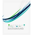 Corporate fresh business wave design vector image vector image