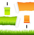 grass and paper elements vector image vector image