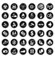 Hazard security and office Icon collection vector image