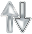 Isolated silver cursors vector image