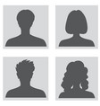 avatar set people profile set woman and man vector image