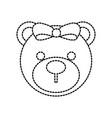 baby shower teddy girl cute animal vector image