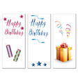 birthday cards on a white background vector image
