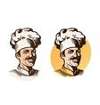 Chef baker cook symbol Cooking restaurant or vector image