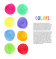 colorful watercolor background decoration with vector image