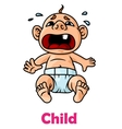 Crying little boy vector image