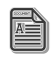doc format page vector image