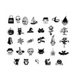 halloween icons hand drawn doodle vector image