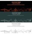 portland event banner hand drawn skyline vector image